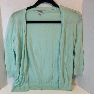 Mint Green Burton Up 3/4 Length Sleeve Cardigan